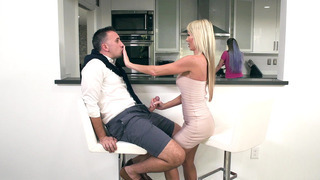 Tylo Duran sucks her sister husband's cock behind the counter Thumbnail