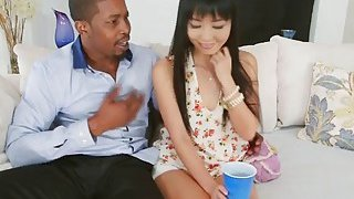 Horny black stud fucks tight ass of sexy Asian hottie Marica Hase Thumbnail