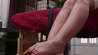 Asian masseuse anal toys brunette hottie