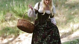 Sleeping beauty goes all xxx outdoors as she rides big cock