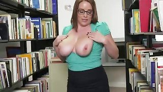 Horny chick takes big cock at the local library