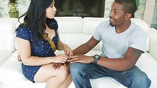 Horny black stud drills tight butt of a hot brunette Asian chick Mia Li Thumbnail