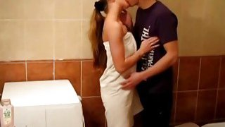 Young Libertines  Passionate fuck in a bathroom Thumbnail