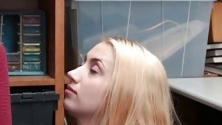Teen blonde Sierra Nicole has to fuck guard for mom freedom