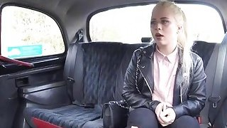 Sexy blonde babe sucks and rides cock in the taxi for free fare Thumbnail