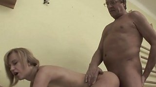 Short Haired Blonde Stepdaughter Fucked Stockings Thumbnail