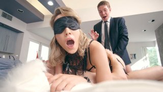 Blonde Lily LaBeau getting double penetrated