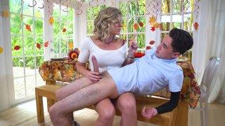 Blonde MILF Cory Chase pleasures Juan's lucky prick