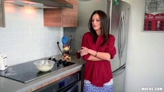 Experienced mature babe sucks dick and fucks in the kitchen Thumbnail