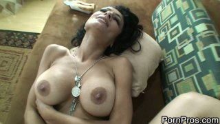 Busty brunette milf Persia Pele get fat cock deep in the pussy Thumbnail