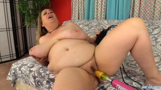 Mega Milkers BBW Winter Wolf Gets Sensually Fucked by a Machine till Orgasm Thumbnail