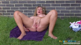 EuropeMaturE Camilla Creampie Solo Performance Thumbnail